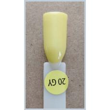 Гель-Лак Kodi  № 20 gy 12 мл. Лимонно-жёлтый.