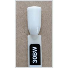 Гель-Лак Kodi  № 30 bw 8 мл. Плотный белый с легким оливково-серым оттенком.