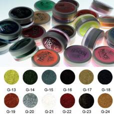 Коллекция цветных глиттерных пудр № 13-24 Kodi Professional.