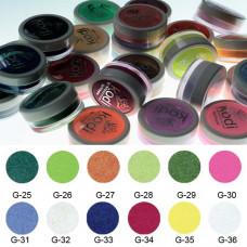 Коллекция цветных глиттерных пудр № 25-36 Kodi Professional.